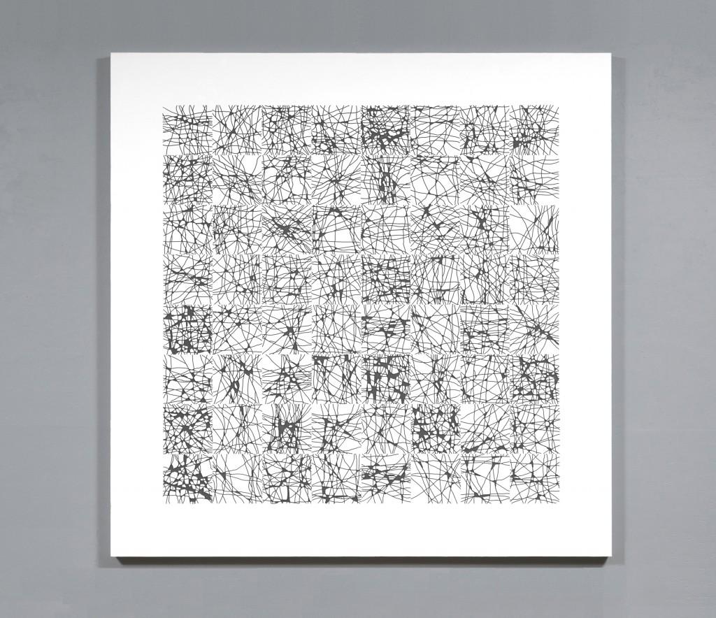 """router grid #3 (8x8)"" acrylic on masonite, 48x48, 2016"
